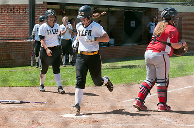 photo by Sarah A. Miller/Tyler Morning Telegraph  Tyler Junior College's (21) Amber Landry makes it to home plate in the fourth inning during their softball game against  Northeast Texas Community College Wednesday in Bullard.