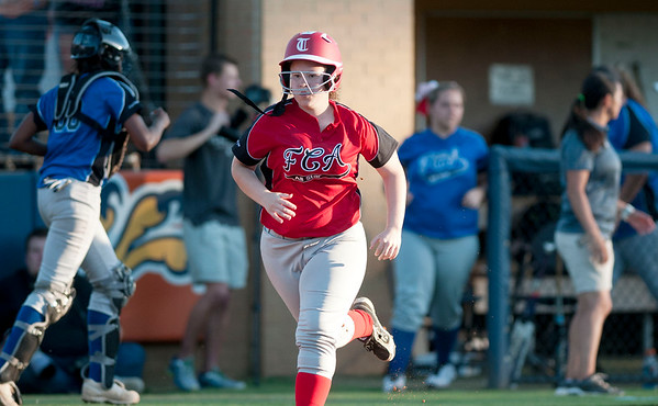 Robert E. Lee's Kaylee Hahn during the Fellowship of Christian Athletes All-Star softball game Friday night at the University of Texas at Tyler's Suddenlink Field.  (photo by Sarah A. Miller/Tyler Morning Telegraph)