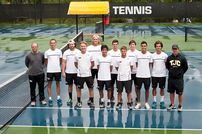 After finishing second in 2014 the Tyler Junior Apaches tennis team is seeking a return to the top spot at the NJCAA National Tournament, which is scheduled for May 9-15 at Collin County Community College in Plano. Members of the Apache squad are (front row, from left) Sindre Hellesmark (freshman, Houston), Johan Candelario (freshman, San Antonio), Ciro Lampasas (freshman, Houston), Mohamed Ben-Ali (freshman, Houston), (second row) head coach Dash Connell, Logan Powell (freshman, Amarillo), Christian Zanca (sophomore, Harlingen), Zach Northey (freshman, Lincoln, Neb.), John King (sophomore, San Antonio), Kyle Logue (sophomore, Melbourne, Fla.), Vaughn Hunter (sophomore, Johannesburg, South Africa) and assistant coach Brent Krivokapich. Not pictured: Matthew Rossouw (freshman, Pretoria, South Africa) and assistant coach Kimm Ketelson.  (photo by Sarah A. Miller/Tyler Morning Telegraph)
