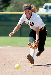 photo by Sarah A. Miller/Tyler Morning Telegraph  Tyler Junior College's (3) Haley Mills runs to grab the ball  in the fourth inning during their softball game against  Northeast Texas Community College Wednesday in Bullard.
