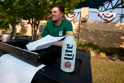 Jacob Clark sells beer at the East Texas Pump Jacks' first home game Thursday June 4, 2015 at Irwin Field n the campus of The University of Texas at Tyler in Tyler, Texas. They played against the Acadiana Cane Cutters and will face them again Friday night. They play Brazos Valley Bombers Saturday and Sunday at Irwin Field. The Pump Jacks, a Texas Collegiate Wooden Bat League, are playing their first season in Tyler after moving from nearby Kilgore.   (photo by Sarah A. Miller/Tyler Morning Telegraph)