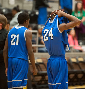 photo by Sarah A. Miller/Tyler Morning Telegraph  John Tyler High School's (24) Ja'Khari Lewis reacts after his team lost their area playoff game against Mansfield Summit held Saturday at Forney High School. Summit beat the Lions 77-60.