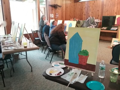 painting-away-on-mothers-day-at-barnes-nature-center