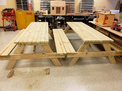 forestville-post-209-commander-works-with-terryville-high-school-students-to-build-picnic-tables-for-church