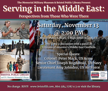 bristol-library-to-host-panel-discussion-with-three-veterans-of-americas-middle-east-conflicts