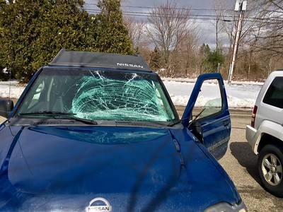 police-snow-flies-off-truck-smashing-vehicles-windshield