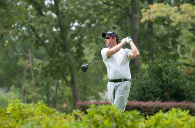 Jonathan Hill of Tyler tees off the 1st hole during the Men's Club Championship at Hollytree Country Club Friday Aug. 21.   (Sarah A. Miller/Tyler Morning Telegraph)
