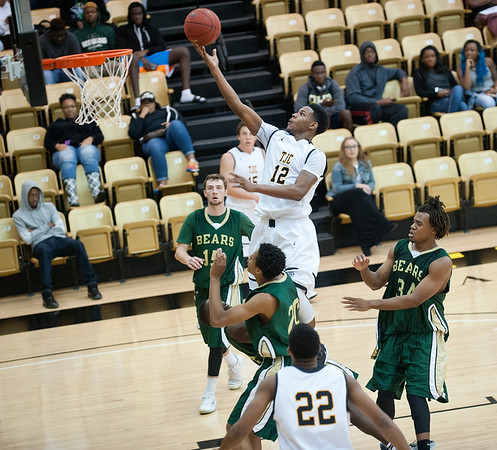 Tyler Junior College's Ronnie Stacy makes a basket in the first period of their basketball game against Brookhaven College Friday Oct. 30, 2015 at Wagstaff Gymnasium.  (Sarah A. Miller/Tyler Morning Telegraph)