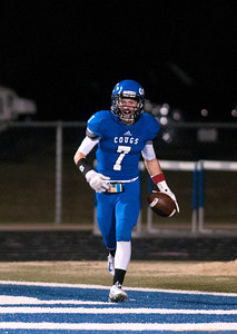Grace Community School's Brady Newman scores a touchdown during their game against Houston Second Baptist Friday Nov. 13, 2015. Grace won, 28-18.  (Sarah A. Miller/Tyler Morning Telegraph)