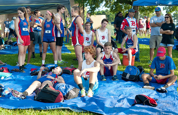 The Bullard cross country team waits for their race to start at the Tyler Lee Cross County Classic held Saturday morning at the University of Texas at Tyler.   (Sarah A. Miller/Tyler Morning Telegraph)